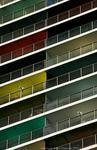 slanted balconies